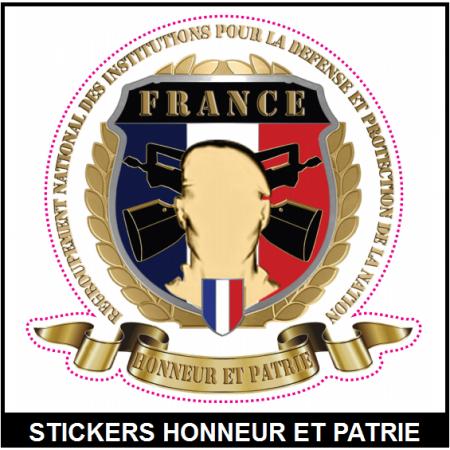 STICKERS HONNEUR ET PATRIE